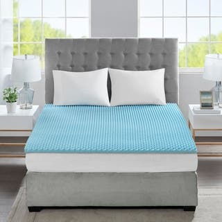 Flexapedic by Sleep Philosophy Reversible Convoluted 1.5-inch Gel Memory Foam Anti-microbial and Dust Mites Resistant Topper|https://ak1.ostkcdn.com/images/products/10703876/P17764100.jpg?impolicy=medium