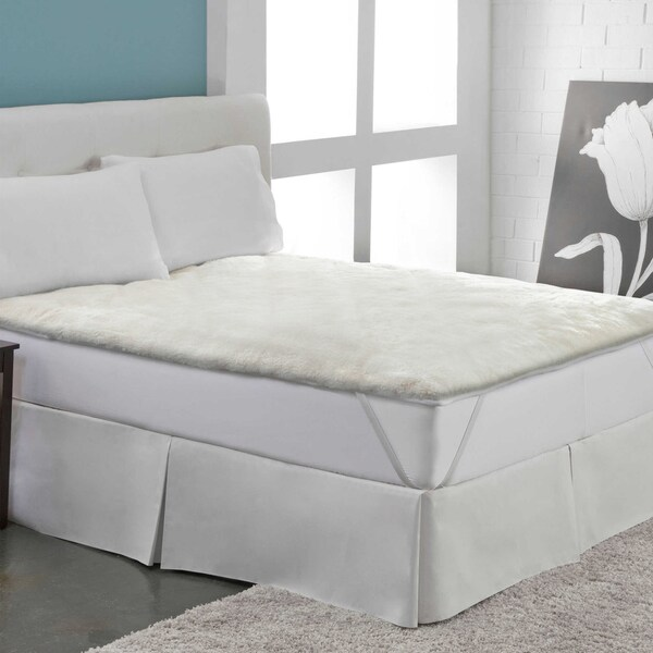 Shop Warm Ultra Plush Sherpa Mattress Pad Free Shipping