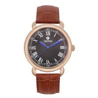 Croton Men's CN307532BRBK Stainless Steel Rosetone Leather Strap Watch|https://ak1.ostkcdn.com/images/products/10703902/P17764103.jpg?impolicy=medium