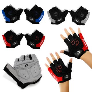 Gearonic Fashion Cycling Bicycle Motorcycle Sports Half Finger Gloves|https://ak1.ostkcdn.com/images/products/10703904/P17764108.jpg?impolicy=medium