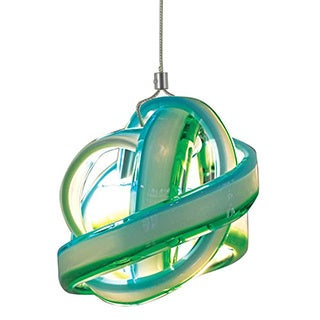 JESCO 1-Light Hand-Blown Glass Knot Mini Pendant Kit
