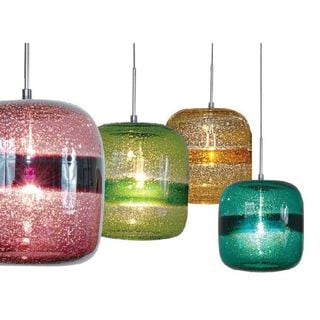 JESCO 1-Light Hand-Blown Glass Mini Pendant Kit