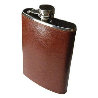 Castello Italian Leather 8-ounce Flask