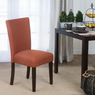 HomePop Parson Dining Chair - Textured Solid Everly Cayenne - Single