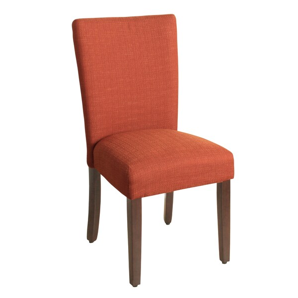 homepop parson dining chair textured solid everly cayenne single