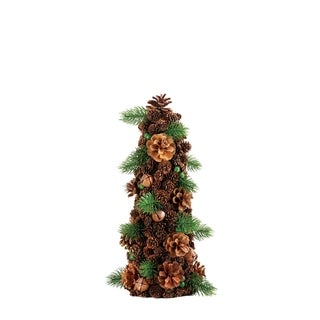 14.5-inch Pine Cone Tree Decor