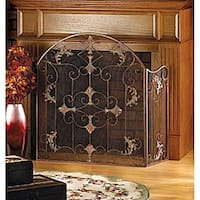 Floral 3-Panel Fireplace Screen