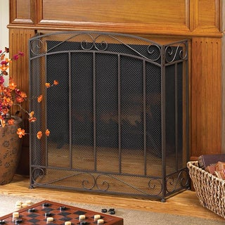 Traditional and Classy 3-Panel Fireplace Screen