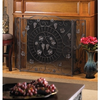 Clover Decorative Scroll Fireplace Screen