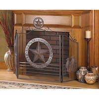 Texas Style Iron Fireplace Screen
