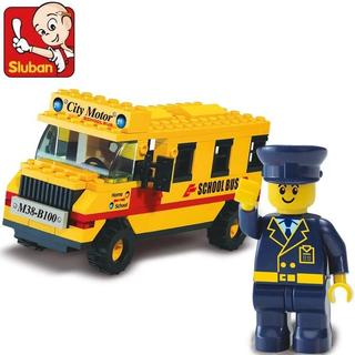 Sluban Interlocking Bricks School Bus M38-B0100