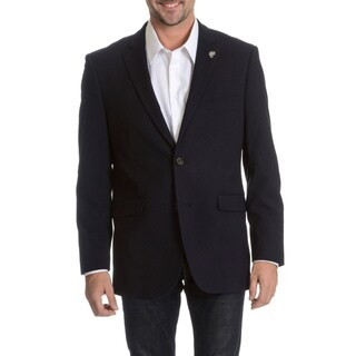 USPA Men's 2-Button Corduroy Elbow Patch Blazer