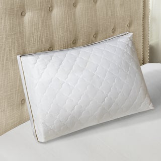 Sleep Philosophy 300 Thread Count Cotton Wonder Wool Quilted Down Alternative Pillow