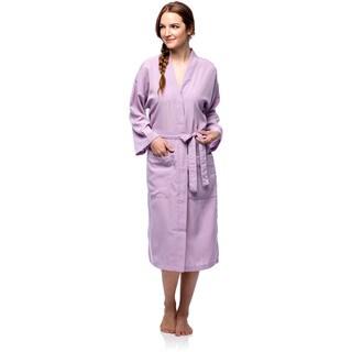 La Cera Women's Lilac Full-length Robe