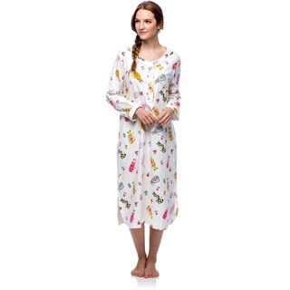Link to La Cera Women's Cotton Flannel Cat Print Nightgown Similar Items in Intimates