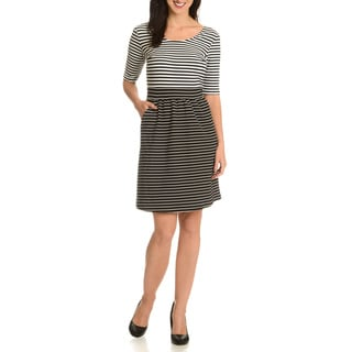 Nina Leonard Women's Striped Dress