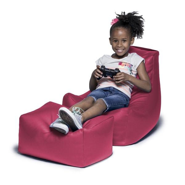 Jaxx Juniper Kids' Vinyl Chair and Ottoman