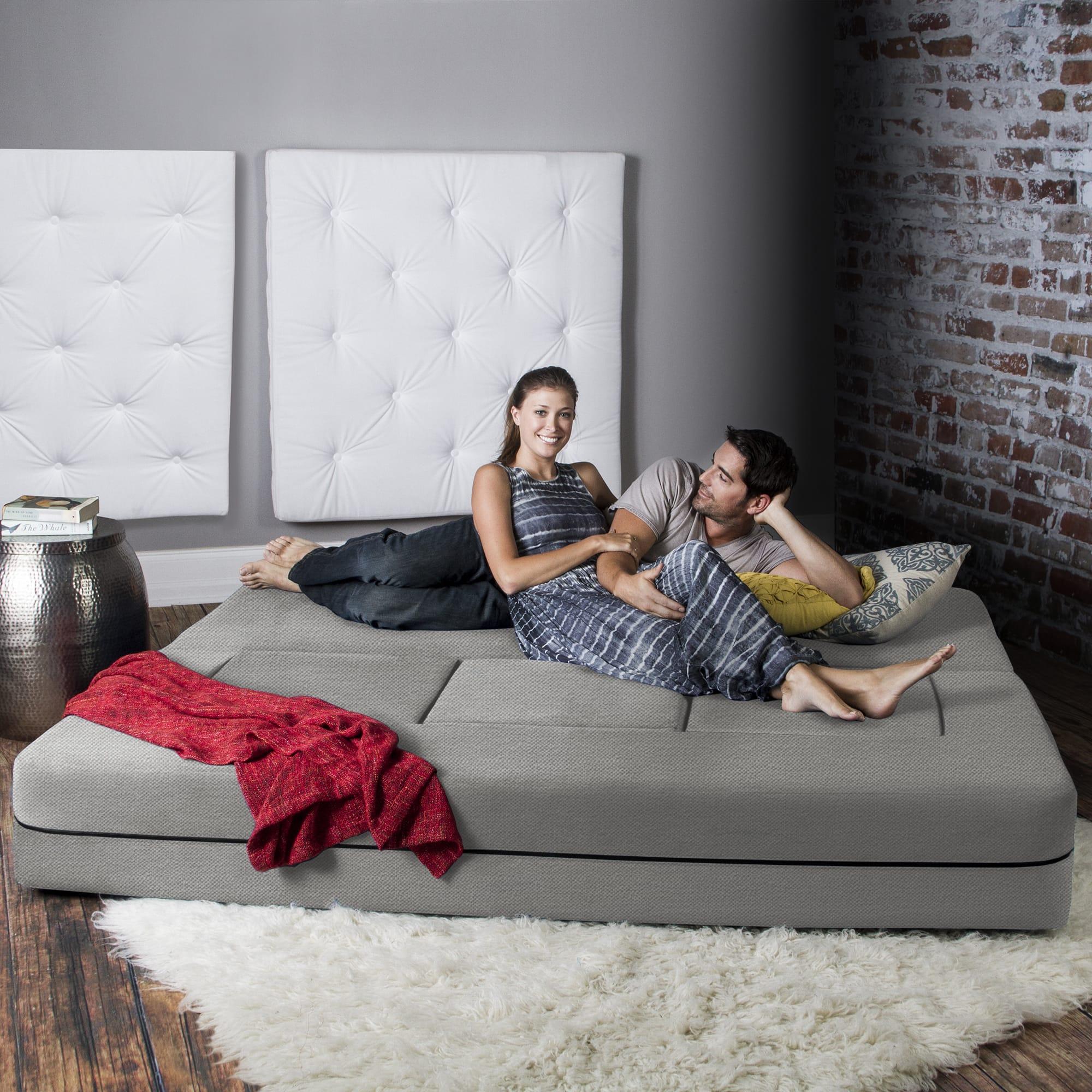 California King Convertible Sleeper Sofa and Ottomans