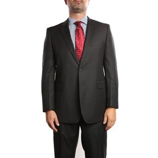 Verno Abella Men's Dark Grey Classic Fit Italian Styled Two Piece Suit