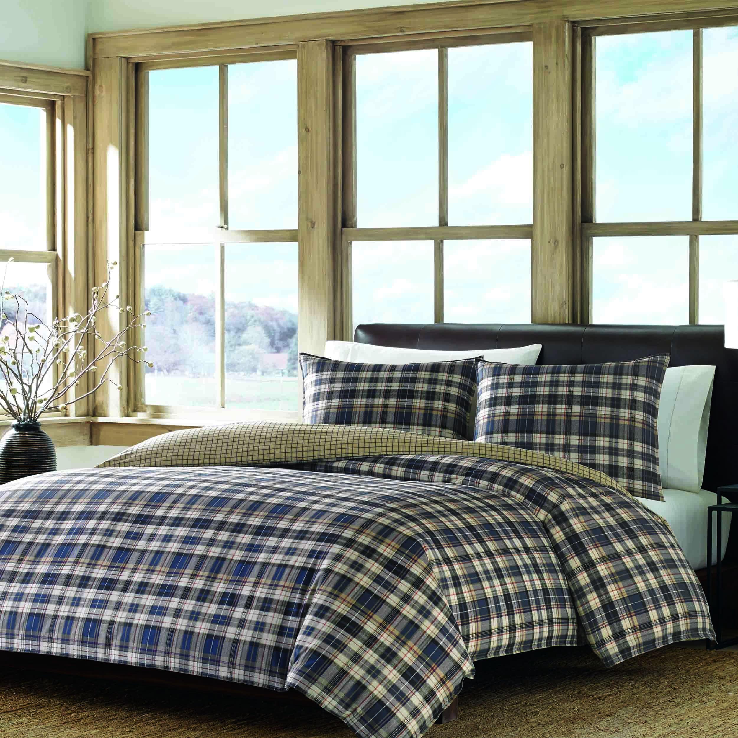 Eddie Bauer Port Gamble 3-piece Comforter Set (King), Blu...