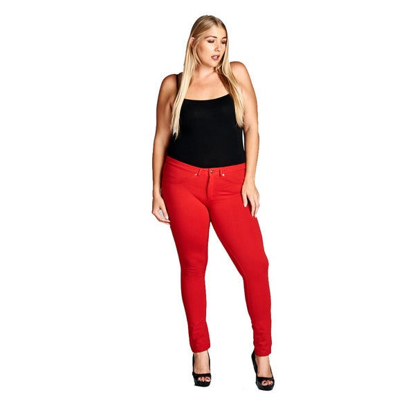 Shop Women\'s Plus Size Red Stretch Pants - Free Shipping On Orders ...