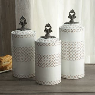American Atelier Set of 3 Red/Blue/White Canisters|https://ak1.ostkcdn.com/images/products/10704130/P17764215.jpg?impolicy=medium