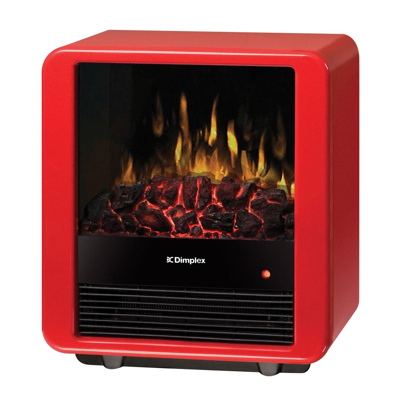 Dimplex North America Mini Cub Electric Stove (Red), Blac...