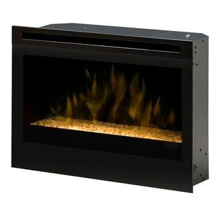"Dimplex North America 25"" Self-trimming Electric Fireplace with Glass Ember Bed"