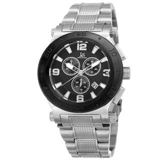 Joshua & Sons Men's Swiss Quartz Chronograph Multifunction Stainless Steel Silver-Tone Bracelet Watch
