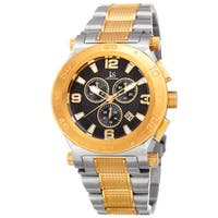 Joshua & Sons Men's Swiss Quartz Chronograph Multifunction Stainless Steel Two-Tone Bracelet Watch - Gold
