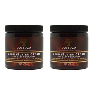 As I Am Double Butter Rich 8-ounce Daily Hair Moisturizer (Pack of 2)