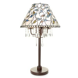 Hardwired table lamps for less overstock amia 3 light white tiffany style crystal table lamp greentooth Images