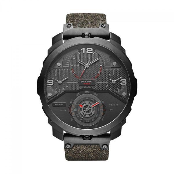 Diesel Men's DZ7358 'Machinus' 4 Time Zones Chronograph Green Denim Watch