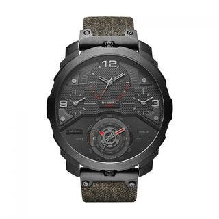 Diesel Men's DZ7358 'Machinus' 4 Time Zones Chronograph Green Denim Watch|https://ak1.ostkcdn.com/images/products/10704214/P17764413.jpg?impolicy=medium