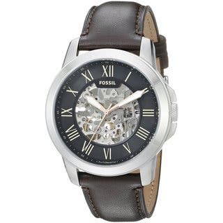 Fossil Men's ME3100 'Grant' Automatic Brown Leather Watch|https://ak1.ostkcdn.com/images/products/10704224/P17764401.jpg?impolicy=medium