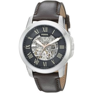 Fossil Men's ME3100 'Grant' Automatic Brown Leather Watch