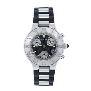 Link to Cartier Men's W10125U2 '21 Must Chronoscaph' Chronograph Two-Tone Rubber Watch Similar Items in Men's Watches