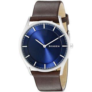 Skagen Men's SKW6237 'Holst Slim' Brown Leather Watch