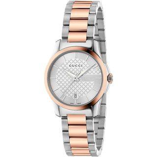 Gucci Women's YA126528 'G-Timeless' Two-Tone Stainless Steel Watch
