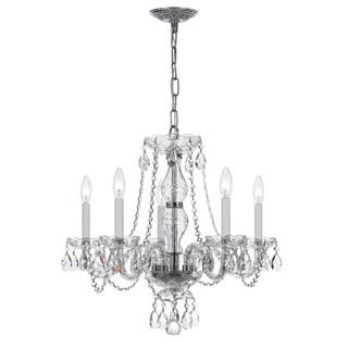 Crystorama Traditional 5-light Chrome/ Crystal Chandelier