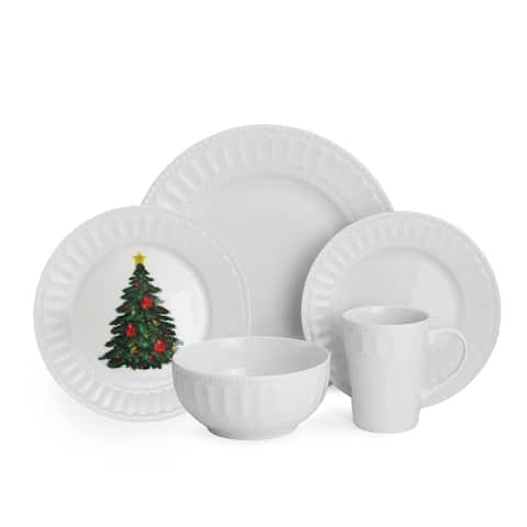 American Atelier Radiant Christmas 20-piece Dinner Set