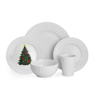 American Atelier Radiant Christmas 20-piece Dinner Set
