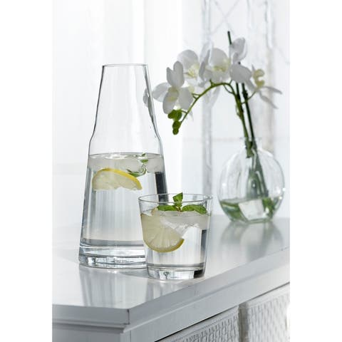 Stylesetter Soho Glass 2-Piece Bedside Water Carafe with Tumbler Set