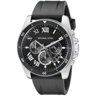 Michael Kors Men's MK8435 'Brecken' Chronograph Black Silicone Watch