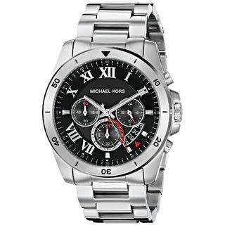 Michael Kors Men's MK8438 Brecken Chronograph Black Dial Stainless Steel Bracelet Watch