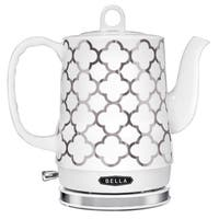 Bella 1.2-Liter Silver Ceramic Electric Kettle