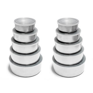 Stainless Steel Food Storage Containers 5-piece Set (Pack of 2)