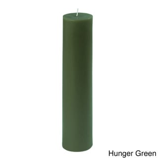 2 x 9-inch Round Unscented Pillar Candles (Pack of 12)