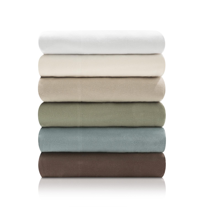 Malouf Woven Ultra-Soft Portuguese Flannel Sheet Set (Twi...