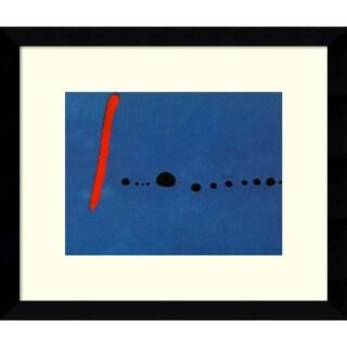 Joan Miro 'Bleu II' Framed Art Print 14 x 12-inch